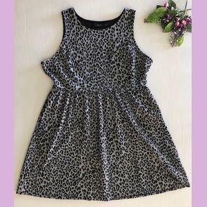 Apt. 9 Gray Leopard Print Knit Dress size XL